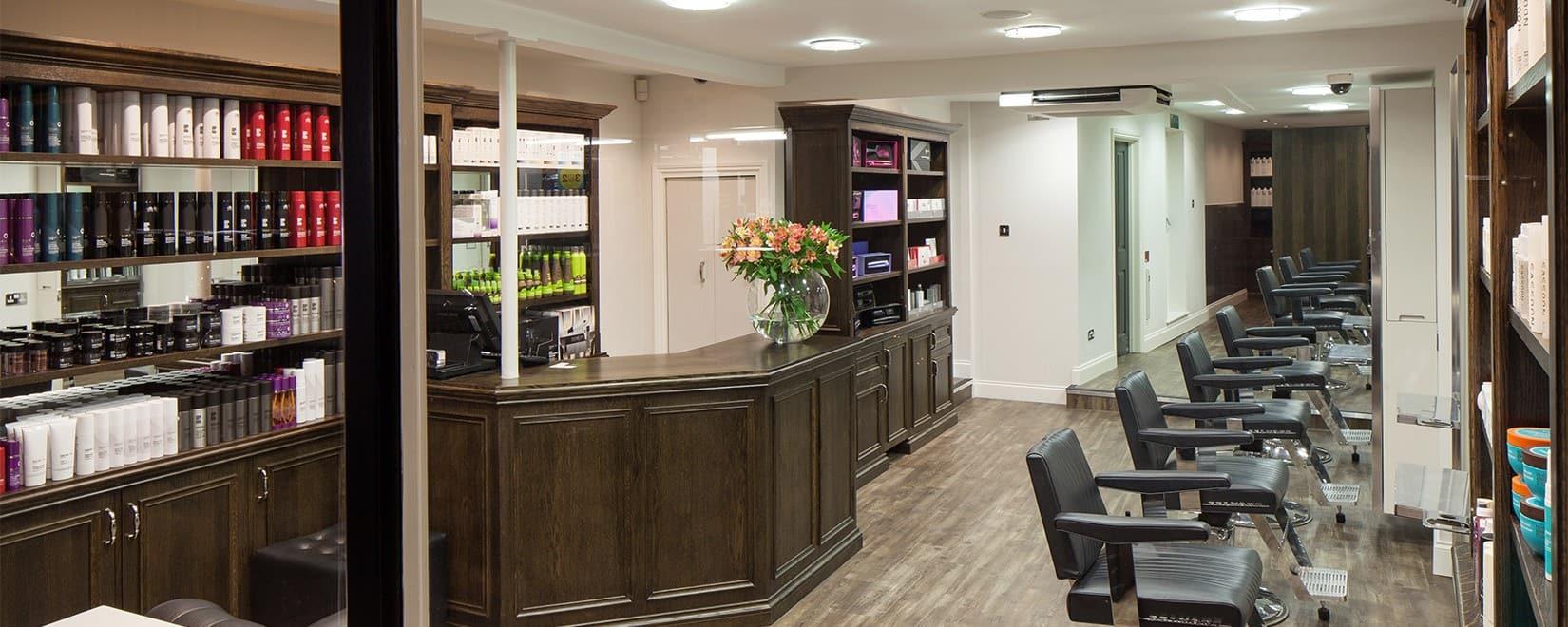 M Salons - Hairdressers Bishops Stortford - Interior Reception